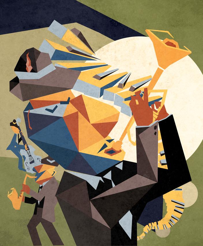 Enjoy Magazine Jazz Illustration Chris Corsi